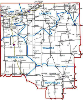 Indiana Department of Transportation Northwest district map
