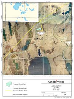 Alpine Satellite Development Program Site Map Alpine West CD-5 site map (Photo credit: U.S. Bureau of Land Management)