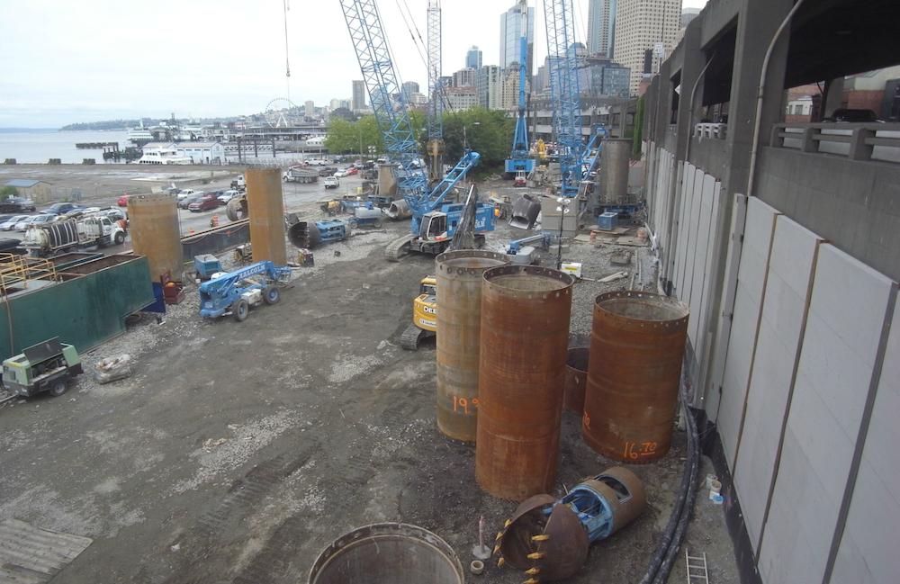 The Big Bertha repair pit site as of June 18, 2014.