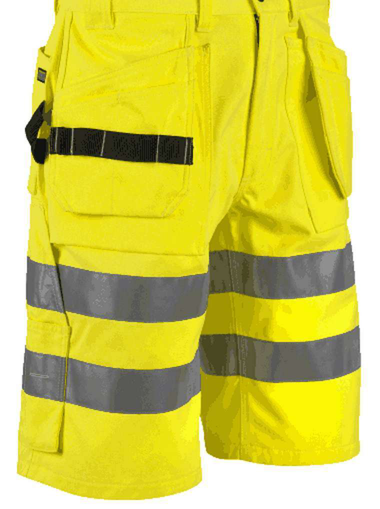 The new high-vis line of clothing from Blaklader includes shorts, seen here, as well as pants, shirts and jackets.