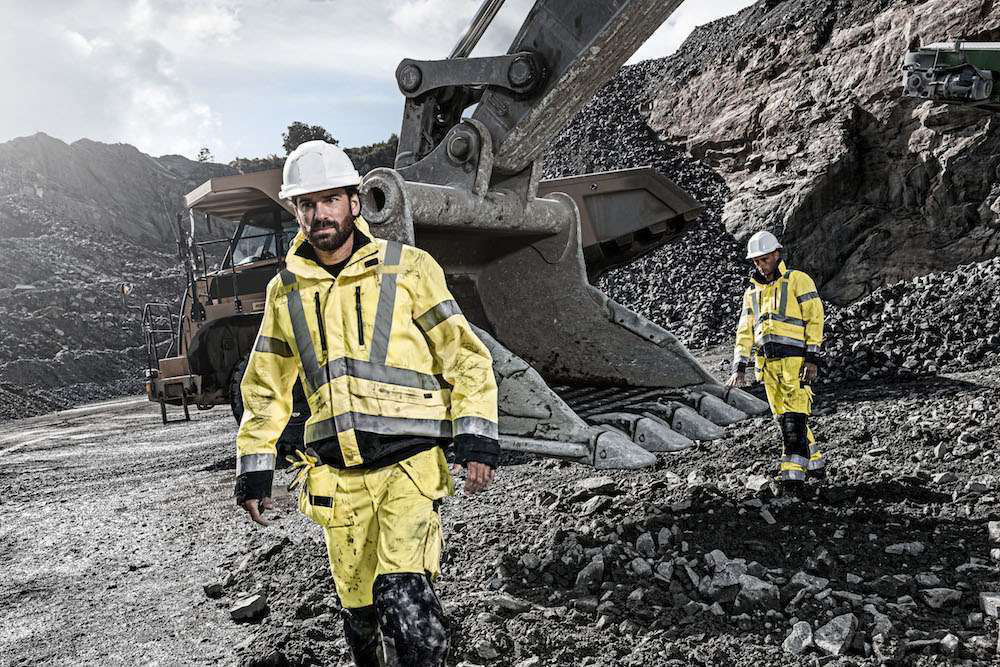 Blaklader high-visibility construction clothing