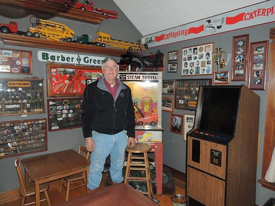 Passionate collector: Larry Kotkowski's collection includes around 800 models, housed in his family room and basement.