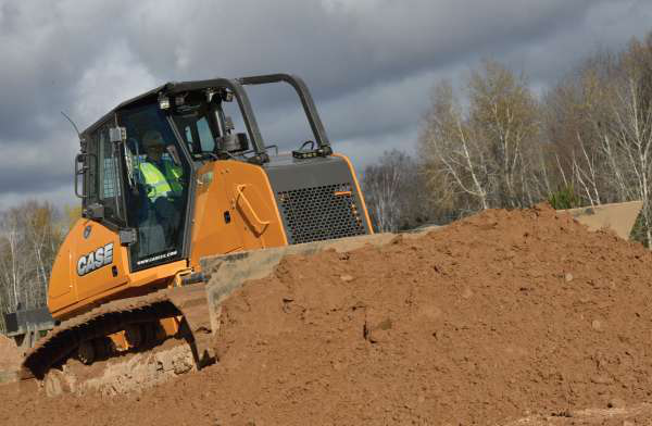 The Case M Series dozers, introduced last year, offer advanced electrohydraulics, giving operators three user-selectable settings, from smooth to aggressive.