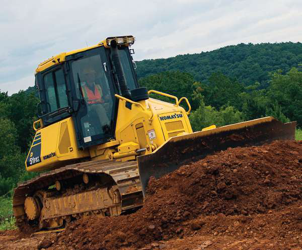 Komatsu says its Intelligent Machine Control, introduced last summer, improves dozing efficiency on the D51Pxi-22 by 9 percent.