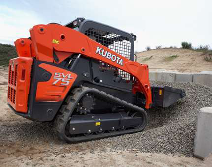 The Kubota SVL75 led new financed construction equipment sales in April.