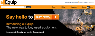 """The new site is a """"buy now"""" online market place for used equipment."""