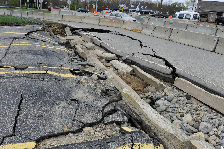 Rhode Island road damage