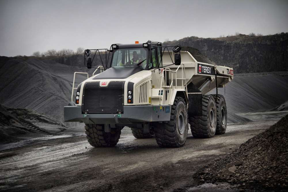 The Terex TA400 (pictured) and TA300 articulated haulers are the first trucks to be announced after Volvo CE's acquisition of Terex's line of articulated and rigid frame trucks.