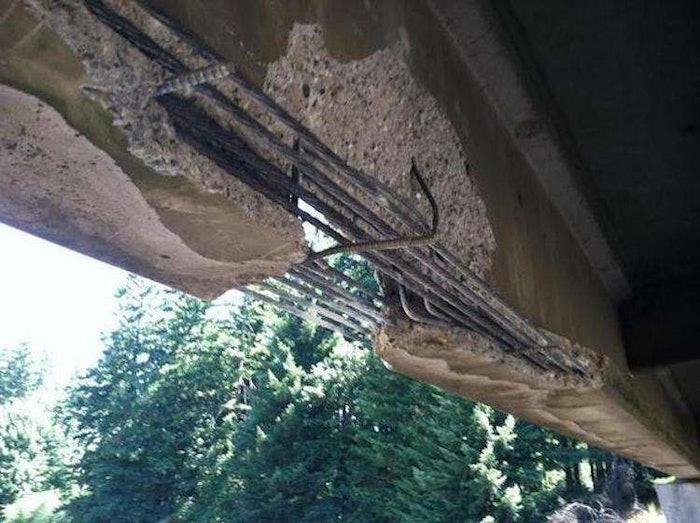 Washington bridge damage from excavator