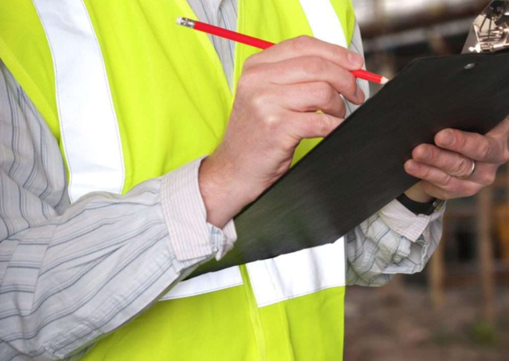 construction safety inspection clipboard inspector