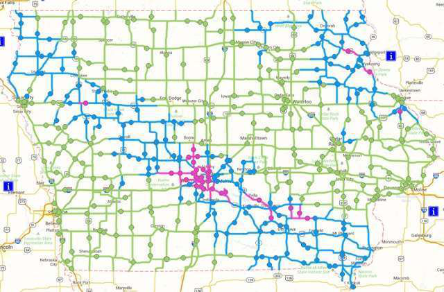 Iowa Road Conditions Map Iowa DOT adds new colors to 511 road conditions map Iowa Road Conditions Map