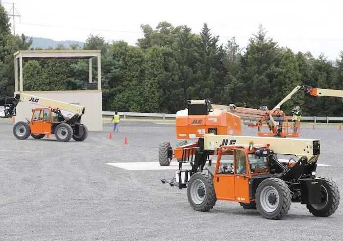 JLG opens training center proving ground telehandlers