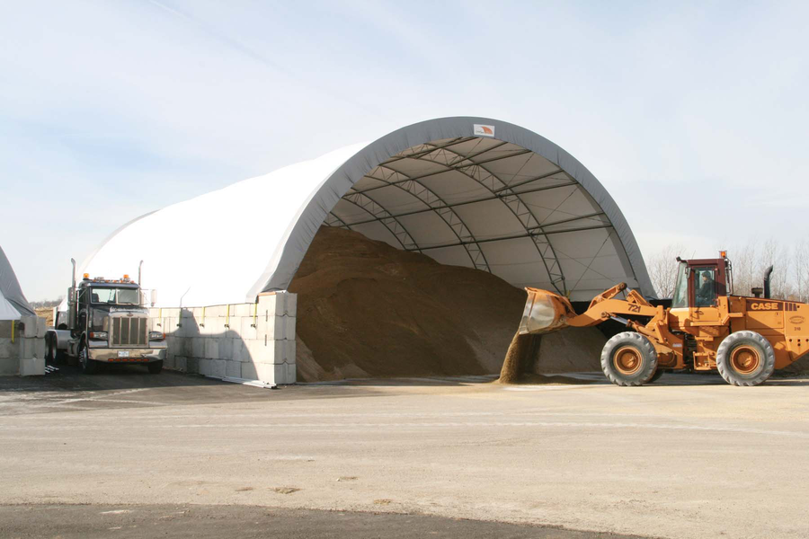 ClearSpan Fabric Structures has added three different length options to its HD Building solutions. The buildings are available in both gable- and round-style designs and can be mounted as a freestanding structure or affixed to other foundations, such as ponywalls or containers.