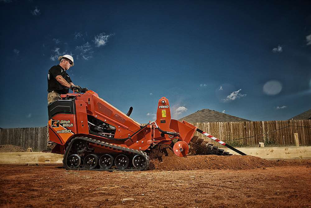 Ditch Witch Footings Machine Combines Sk850 Mini Skid