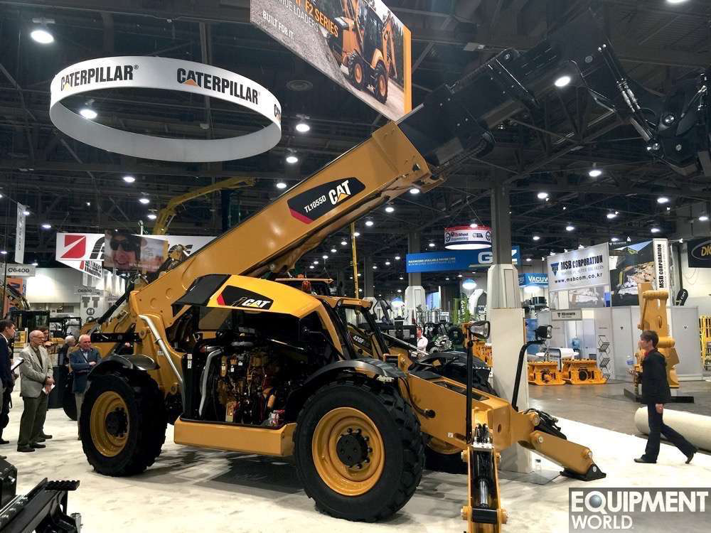 Caterpillar Intros Tl1055d Tl1255d Telehandlers With