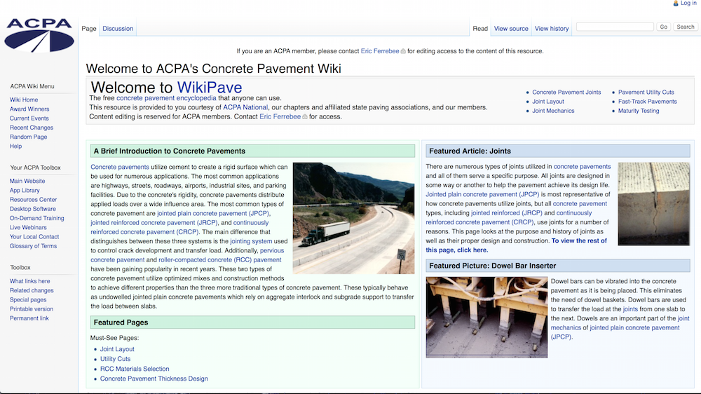 ACPA launches WikiPave resource site, adds 2 web courses to