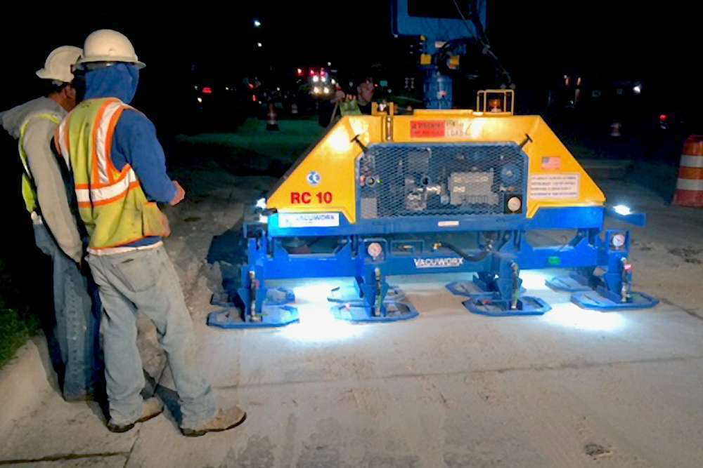 The Vacuworx Octapad Lifts Slabs Faster With 8 Seal Points
