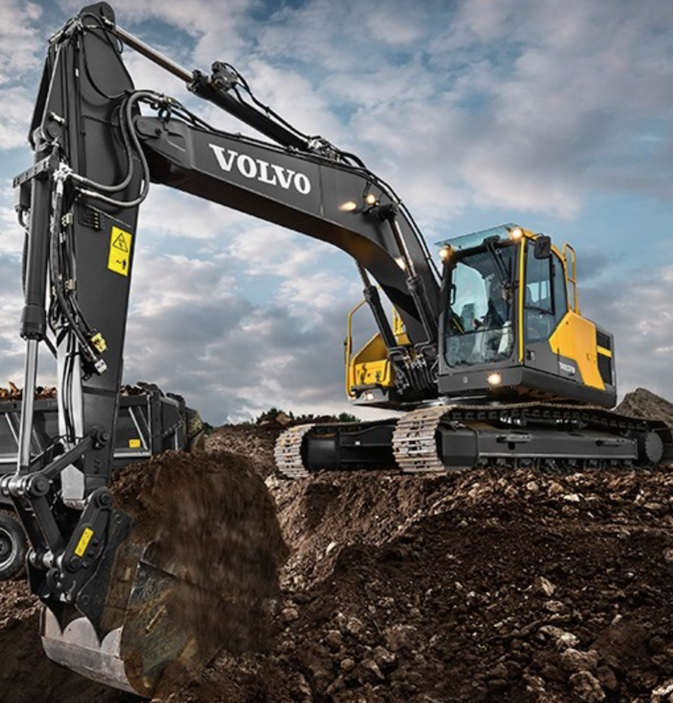 volvo ce 39 s new ec220e excavator protects attachments with. Black Bedroom Furniture Sets. Home Design Ideas