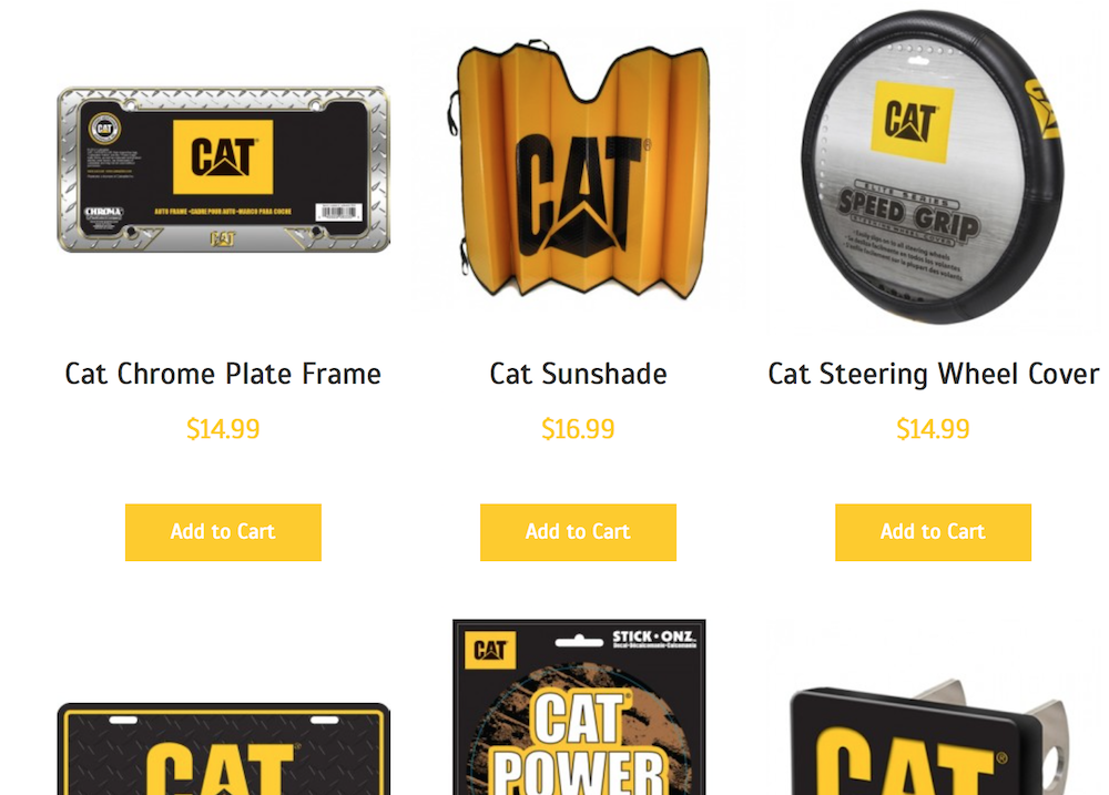 Make any pickup a Cat truck with Caterpillar\'s new auto accessories