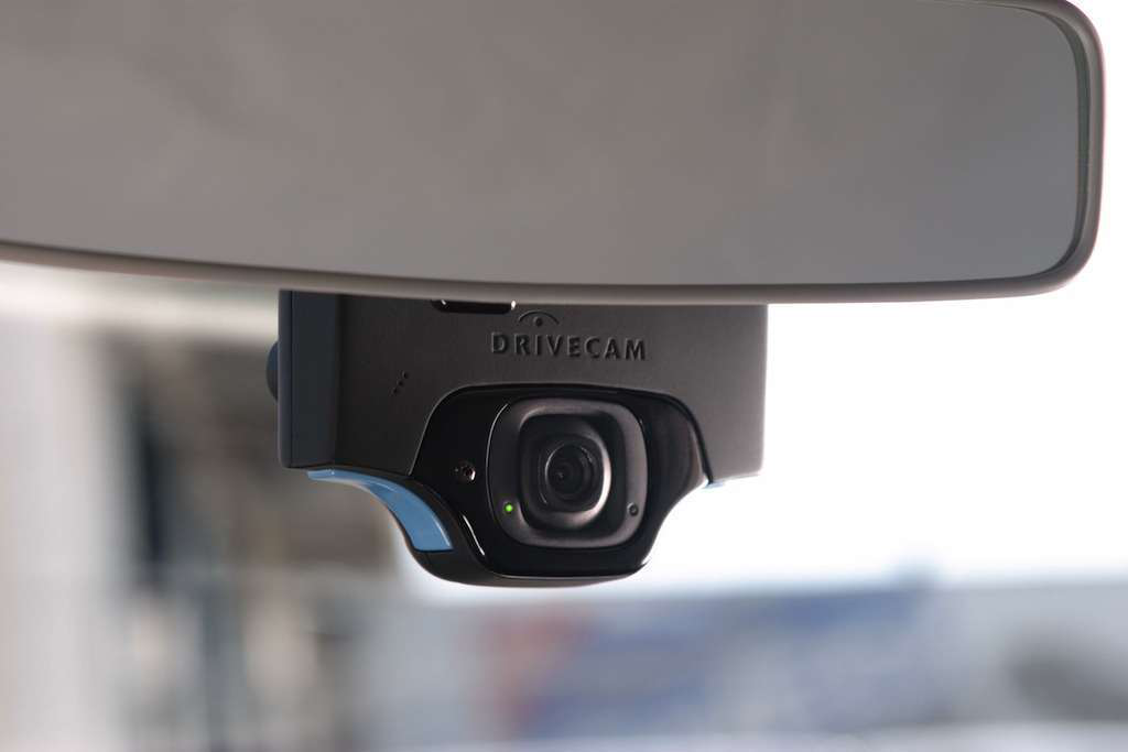 "An in-cab camera from DriveCam continuously films the driver and the  road, deleting all footage beyond clips that include ""trigger events."""