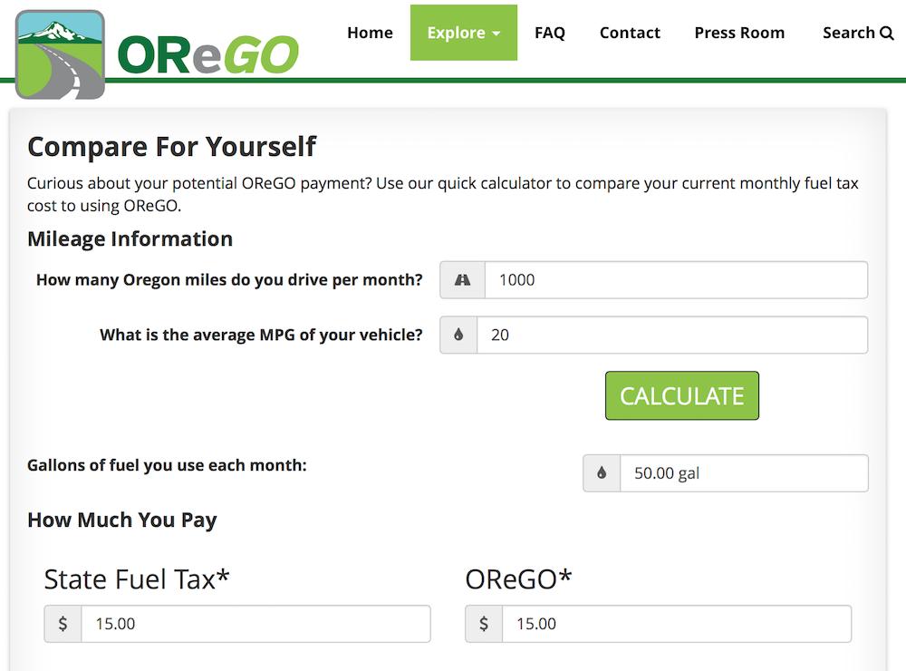 OreGo calculator