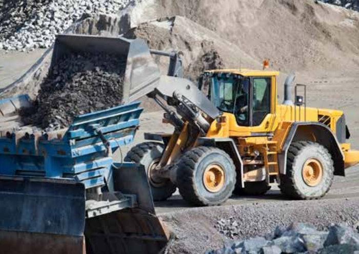 wheel loader stock dumping