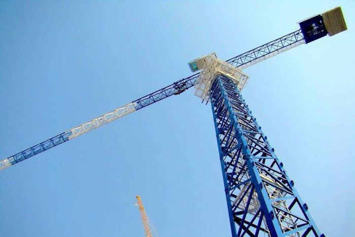 Crane looking up