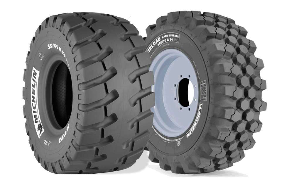 michelin debuts xtxl tire for loaders with 50 sidewall boost bibload hard surface tire for. Black Bedroom Furniture Sets. Home Design Ideas