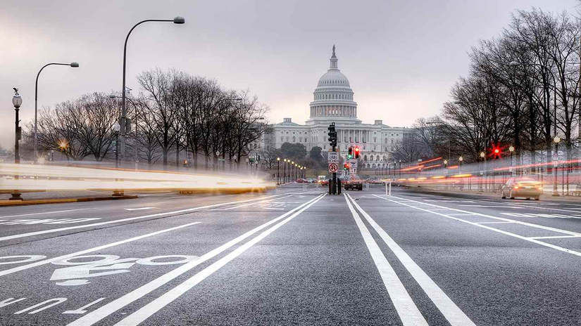 capitol building traffic road