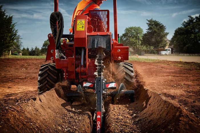Ditch Witch RT45 ride-on trencher 2014