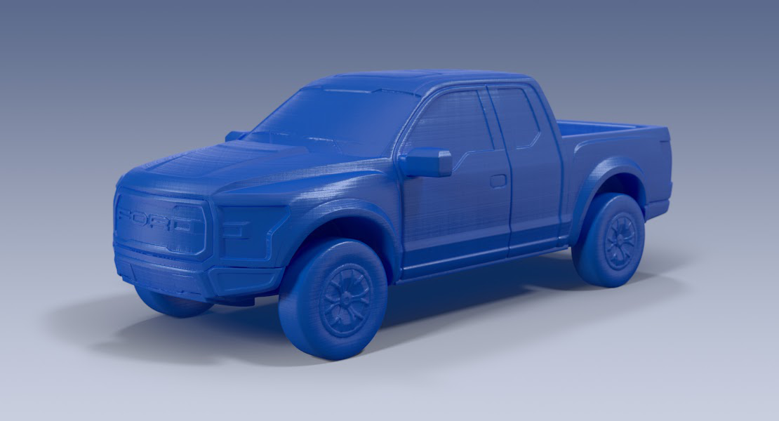 D Printed Model Of The Ford Raptor F  From The Ford D Store