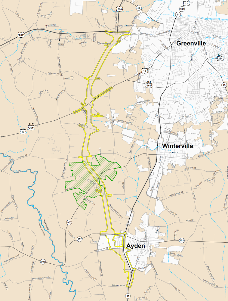 Greenville Southwest Bypass gets green light from NCDOT for 1596