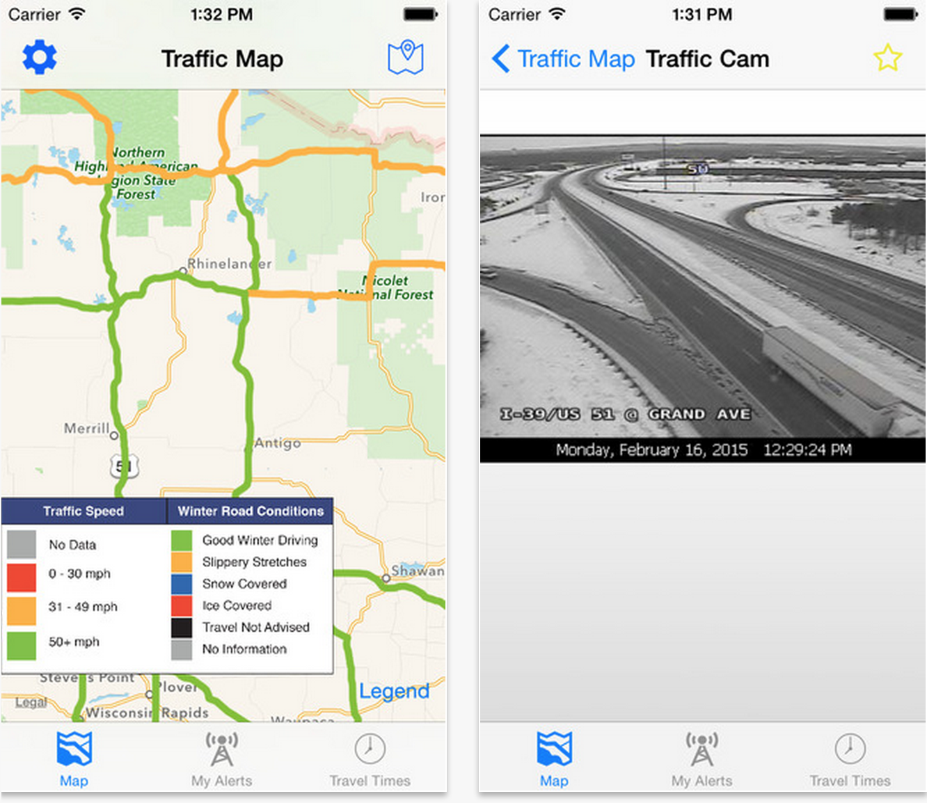 Wisconsin DOT has a new app to keep drivers informed on road ... on live traffic map, atlanta traffic map, chicago traffic map, sf traffic map,