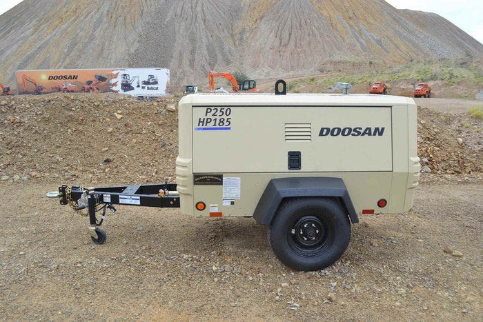 DOOSAN P250/HP185 TIER 4 COMPRESSOR: Handle a range of applications with the Tier 4 Final-compliant P250/HP185 portable air compressor from Doosan Portable Power, which operates at either 250 cfm at 100 psi or 185 cfm at 150 psi. Useful for general construction applications including powering multiple hand-held pneumatic tools, the two-in-one compressor features variable pressure […]