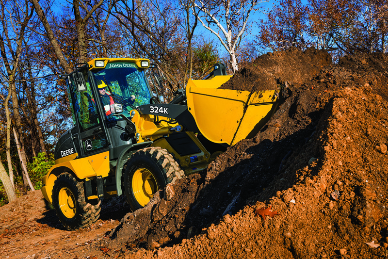 John Deere 324K compact wheel loader