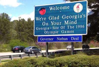 Georgia welcome sign highway