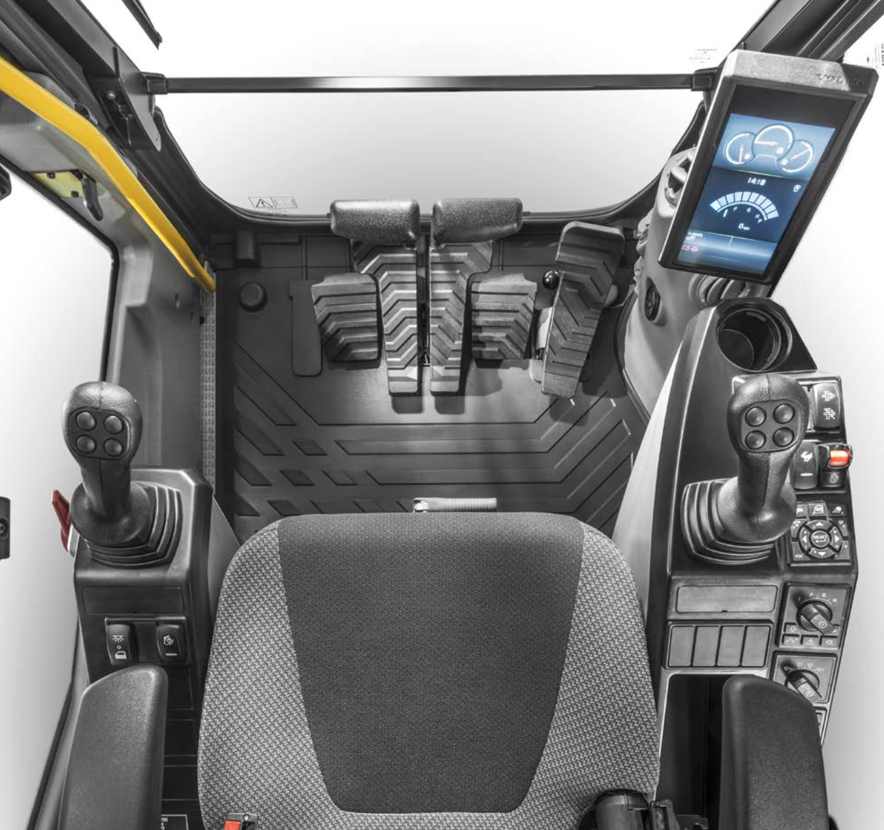 Volvo ce intros ec160e excavator with power fuel for Interior decoration equipment