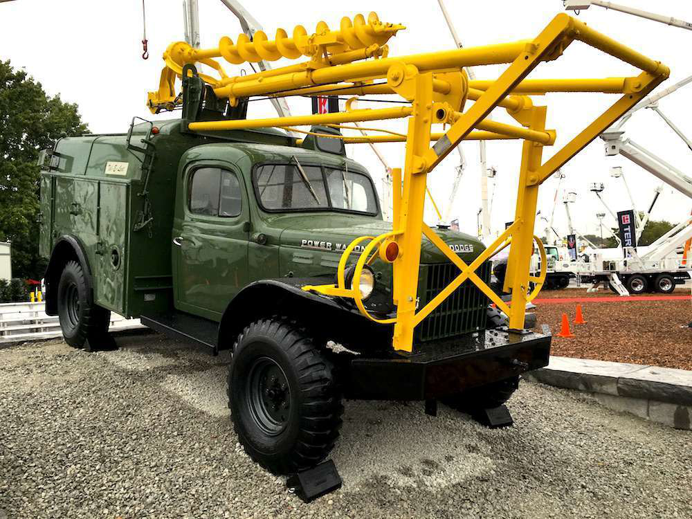 1946 Dodge Power Wagon >> PHOTOS: 1955 Dodge Power Wagon with Tel-E-Lect digger derrick started it all for Terex Utilities