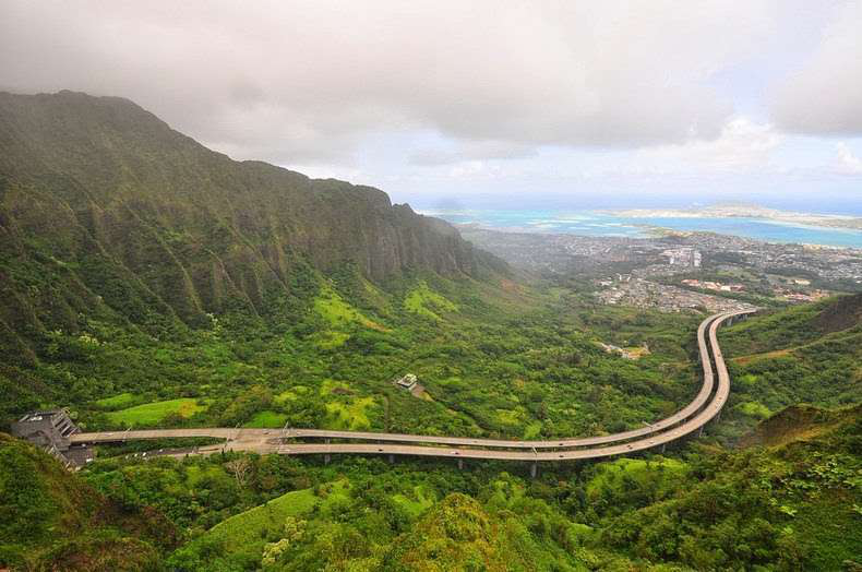 Hawaii's scenic H-3 highway.