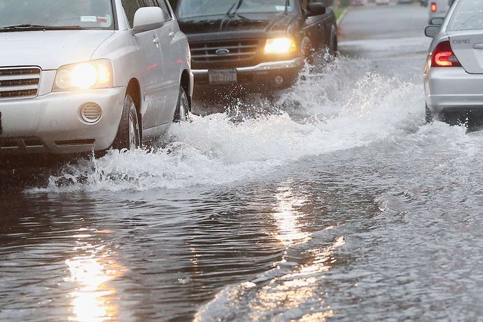 flooding cars highway street flood