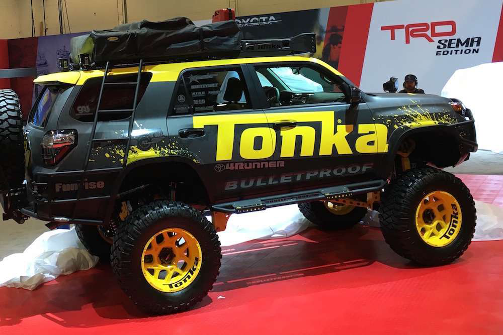 Photos Toyota Unveils Tonka 4runner Concept With A 10 Inch Lift Kit