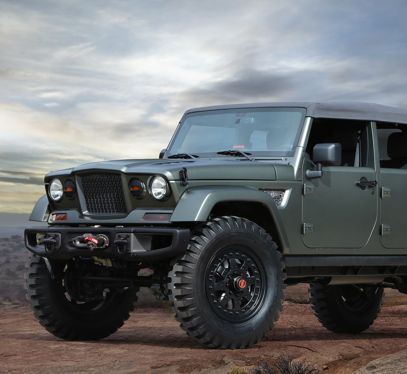 Jeep Wrangler Unlimited Lift Kit >> Jeep unveils Crew Chief 715 and Comanche open-air concept pickups