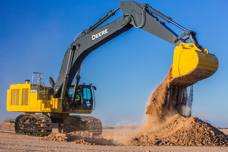 John Deere Updates 670g Lc Excavator With Improved Hydraulics
