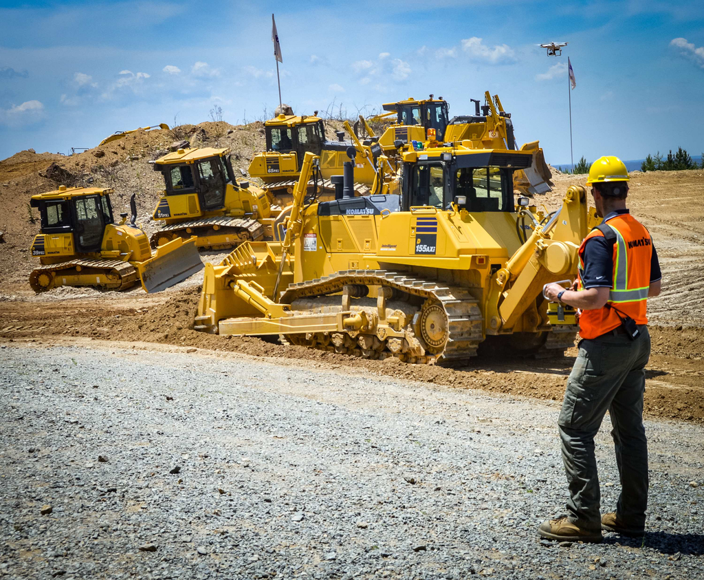 The Komatsu intelligent Machine Control dozer lineup now consists of six models, including the new D155AXi-8 RC, the equipment maker's first remote control semi-auto dozer.