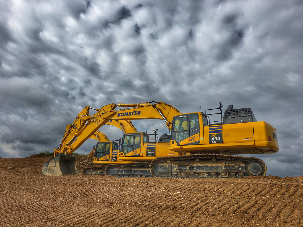 Komatsu now offers three excavators with iMC technology, including the PC260, 360 and 490LCi.