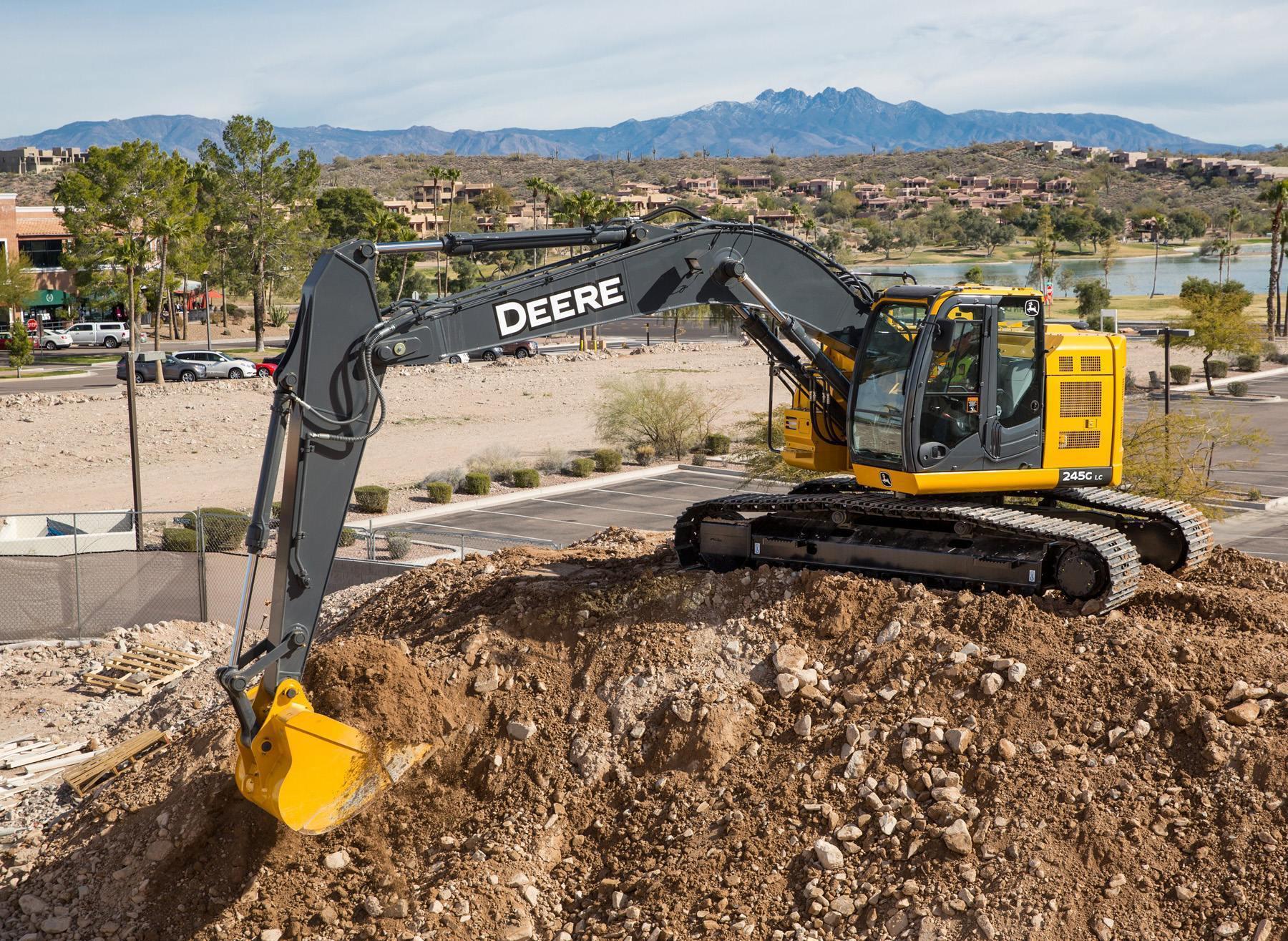 John Deere updates 135G, 245G LC excavators with engine, hydraulic improvements