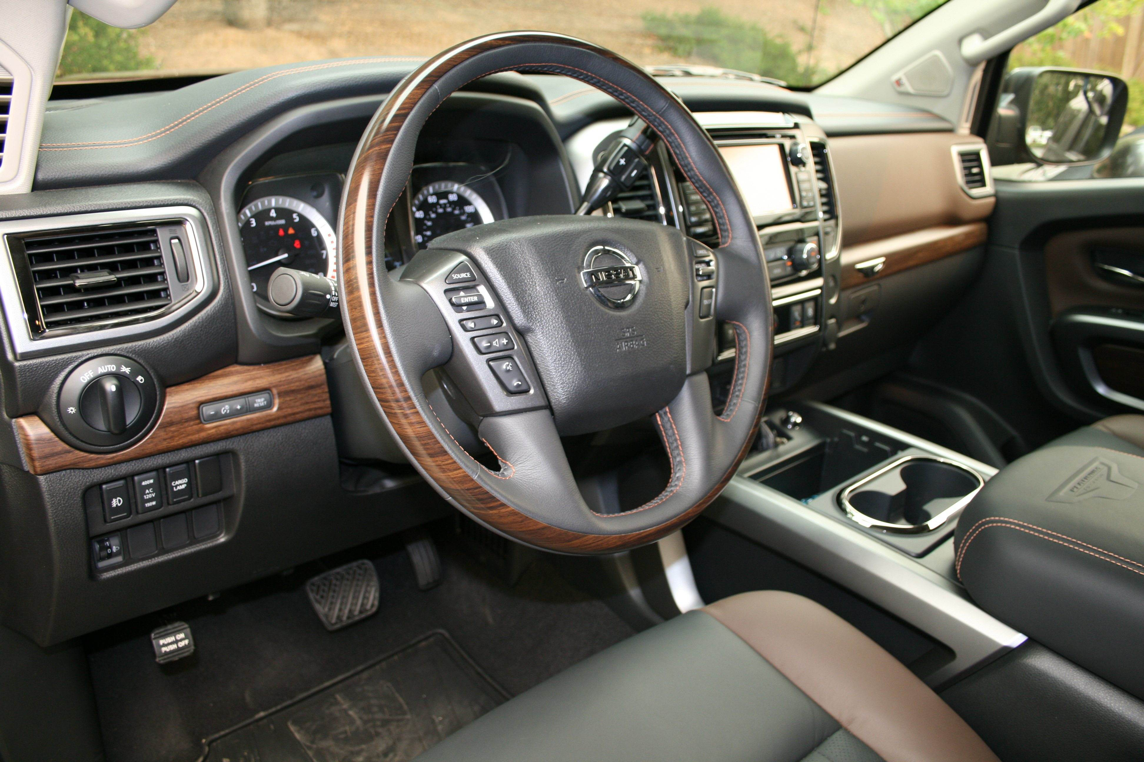 test drive 2017 nissan titan platinum reserve is one fancy work truck. Black Bedroom Furniture Sets. Home Design Ideas