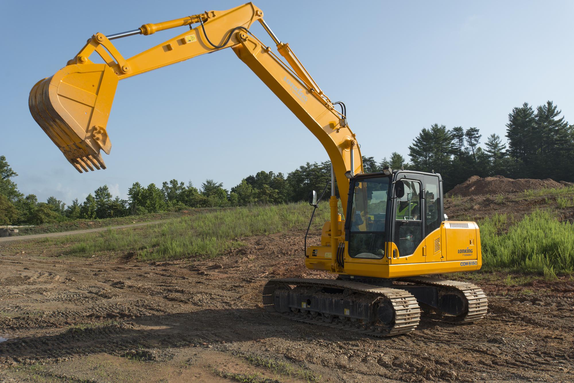 The Lonking CDM6150 excavator has a 121-horsepower Cummins QSB4.5 Tier 3  engine