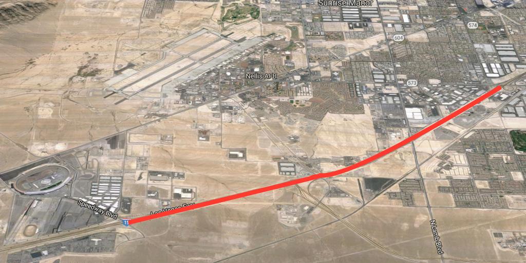 Nevada dot begins 33 8 million i 15 widening in north las for Las vegas motor speedway transportation