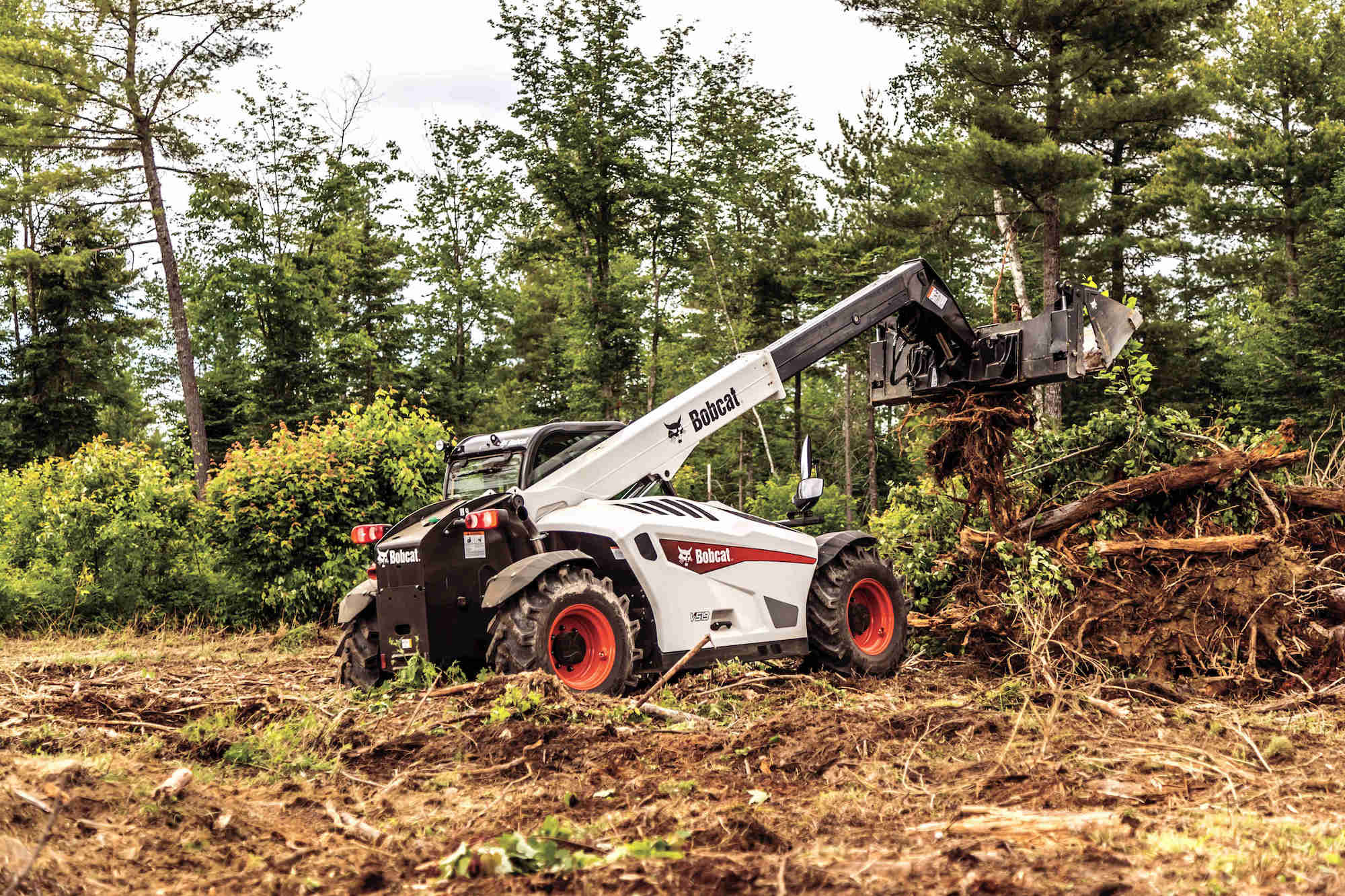 Bobcat's new V519 telehandler features versatile controls, Bob-Tach